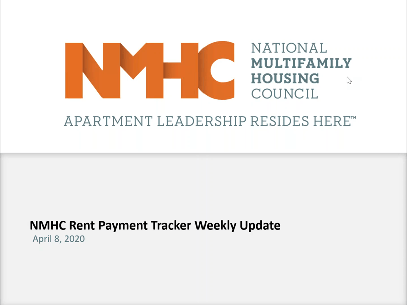 NMHC Rent Payment Tracker Webinar April 8, 2020